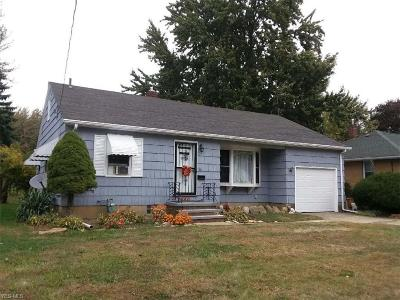 Elyria Single Family Home For Sale: 1142 Bell Court