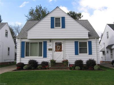 Willowick Single Family Home For Sale: 388 E 322nd Street