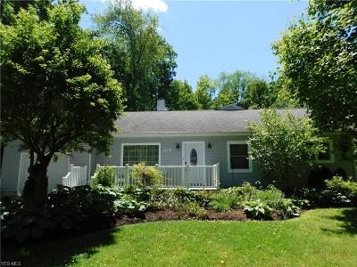 Chagrin Falls Single Family Home Active Under Contract: 7645 Birchmont Drive