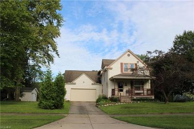 North Olmsted Single Family Home For Sale: 6560 Barton Road
