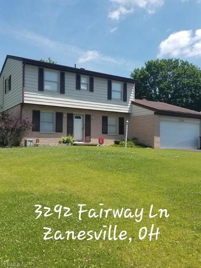 Zanesville Single Family Home Active Under Contract: 3292 Fairway Lane
