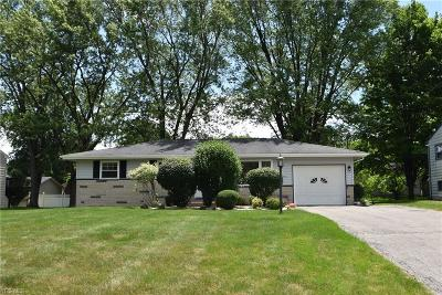 Canfield Single Family Home Active Under Contract: 4523 Warwick Drive