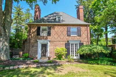 Shaker Heights Single Family Home Active Under Contract: 2973 Morley Road