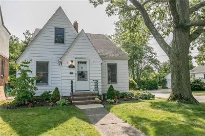 Rocky River Single Family Home For Sale: 1635 Rockland Avenue
