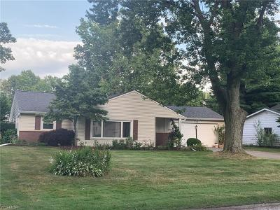 Mentor-On-The-Lake Single Family Home Active Under Contract: 6093 Firwood Road