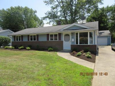 Mentor-On-The-Lake Single Family Home Active Under Contract: 7538 Manor Drive