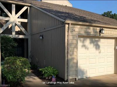 Avon Lake Condo/Townhouse Active Under Contract: 54 Landings Way Drive #54