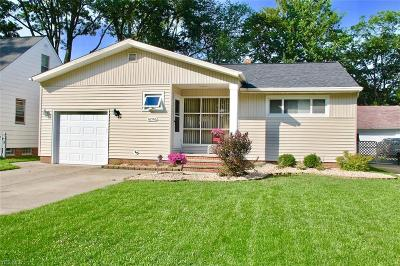Middleburg Heights Single Family Home Active Under Contract: 16546 Glenridge Avenue