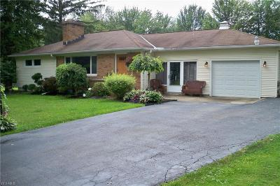 Ashtabula Single Family Home Active Under Contract: 3125 Chapel Road