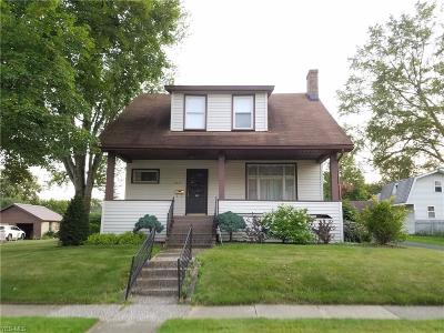 Ashtabula Single Family Home For Sale: 6225 Edward Avenue