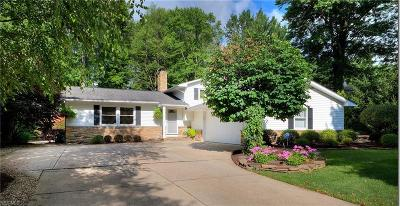 Solon Single Family Home Active Under Contract: 5900 Som Center Road