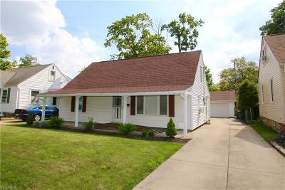 Mayfield Heights Single Family Home Active Under Contract: 1377 Genesee Avenue