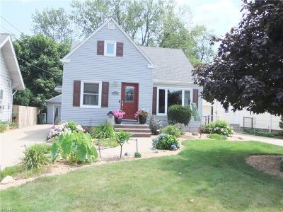 Mayfield Heights Single Family Home Active Under Contract: 1329 Lander Road