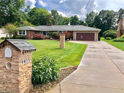 Canfield Single Family Home For Sale: 4415 Meadowview Drive