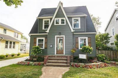 Rocky River Single Family Home For Sale: 1509 Rockland Avenue