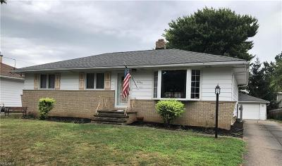 Parma Heights Single Family Home Active Under Contract: 6299 Mariana Drive