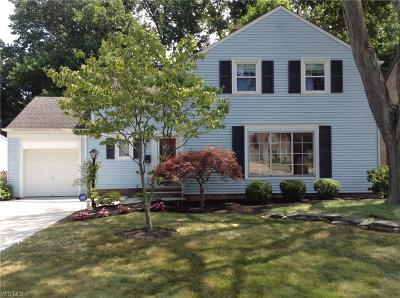 Rocky River Single Family Home For Sale: 3417 Wooster Road