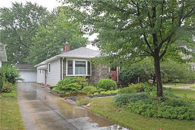 Parma Heights Single Family Home Active Under Contract: 11013 Blossom Avenue