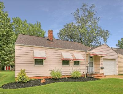 Lyndhurst Single Family Home For Sale: 1619 Overbrook Road