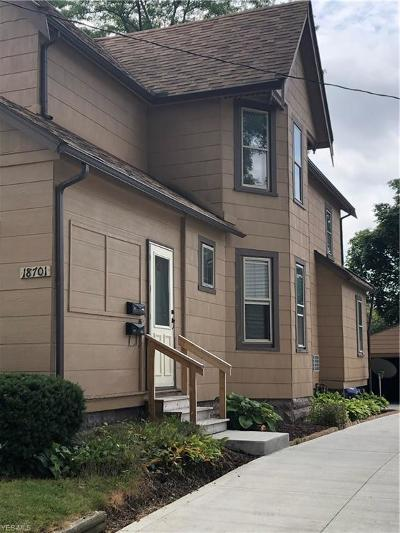 Cleveland Multi Family Home Active Under Contract: 18701 Puritas Avenue