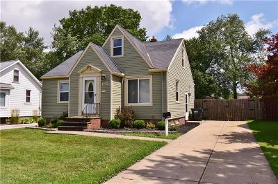 Mayfield Heights Single Family Home Active Under Contract: 1437 Iroquois Avenue