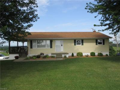 Muskingum County Single Family Home For Sale: 1835 Rix Mills Road