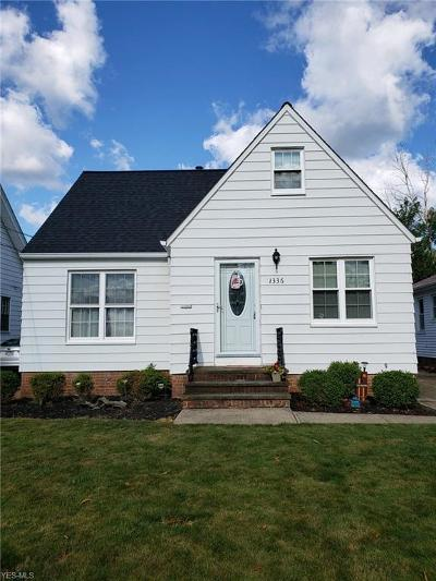 Mayfield Heights Single Family Home For Sale: 1336 Elmwood Road