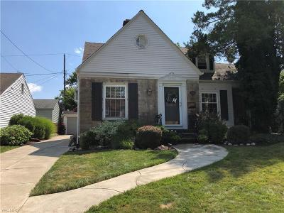 Cleveland OH Single Family Home Active Under Contract: $198,500