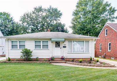 Parma Heights Single Family Home Active Under Contract: 6222 Stratford Drive