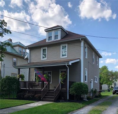 East Palestine Single Family Home Active Under Contract: 176 E Martin
