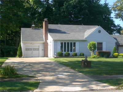 Youngstown Single Family Home Active Under Contract: 3227 Susan Circle