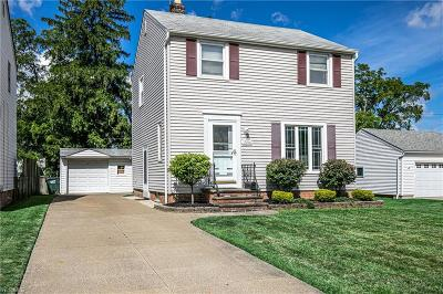 Mayfield Heights Single Family Home Active Under Contract: 1596 Woodrow Avenue
