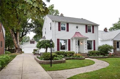 Rocky River Single Family Home Active Under Contract: 20040 Bonnie Bank Boulevard