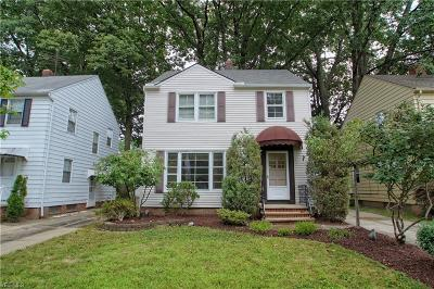 South Euclid Single Family Home Active Under Contract: 1149 Argonne Road
