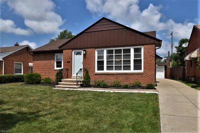 South Euclid Single Family Home For Sale: 3823 Warrendale Road