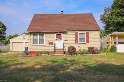 Cleveland OH Single Family Home Active Under Contract: $115,000