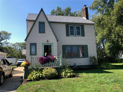 Ashtabula Single Family Home For Sale: 3145 Wilson Avenue