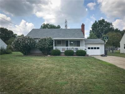 Youngstown Single Family Home For Sale: 2912 Brunswick Road