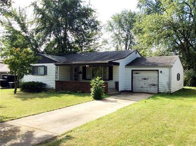 Youngstown Single Family Home For Sale: 3835 Cumberland Drive