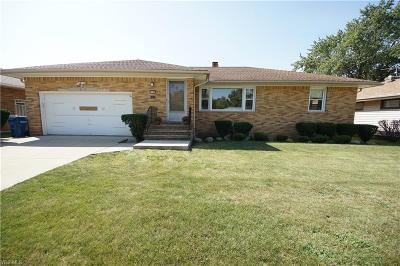 Cleveland Single Family Home For Sale: 8355 Selwick Drive