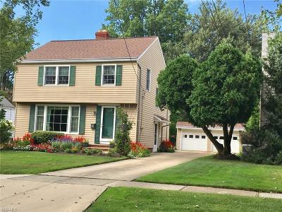 Lyndhurst OH Single Family Home For Sale: $169,900