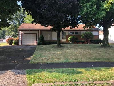 Youngstown Single Family Home For Sale: 2753 Sierra Drive