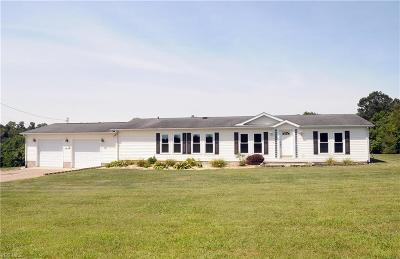 Zanesville Single Family Home For Sale: 3832 Chandlersville Road