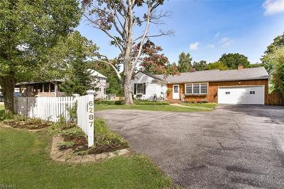 Highland Heights Single Family Home For Sale: 6287 Highland Road