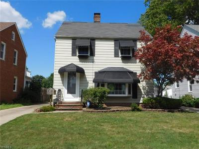 Cleveland OH Single Family Home Active Under Contract: $125,900
