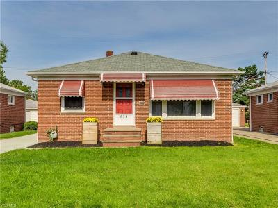 Willowick Single Family Home For Sale: 655 Pendley Road