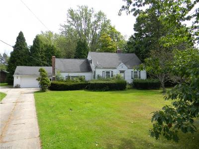 Single Family Home For Sale: 13229 Chillicothe Road