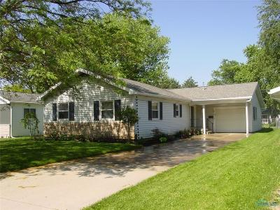 Bryan OH Single Family Home Sold: $104,900