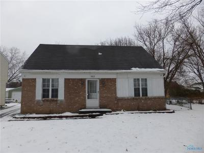 Toledo OH Single Family Home For Sale: $98,900