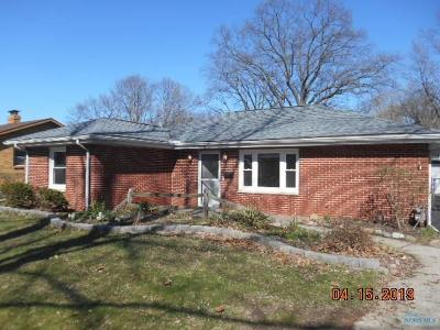 Sylvania OH Single Family Home For Sale: $129,900